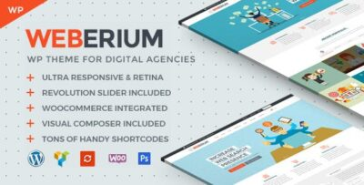 Weberium Theme Tailored For Digital Agencies
