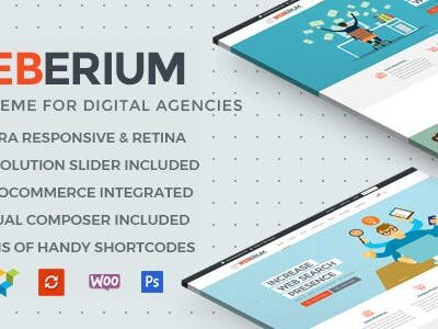 Weberium Theme Tailored For Digital Agencies