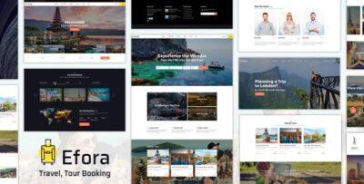 Efora Travel Agency WordPress Theme