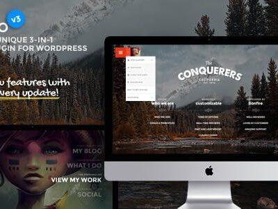 Jumbo Full Screen Menu For WordPress