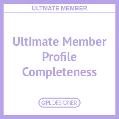 Ultimate Member – Profile Completeness