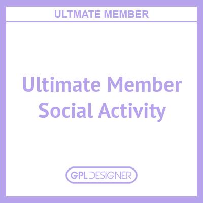 Ultimate Member – Social Activity