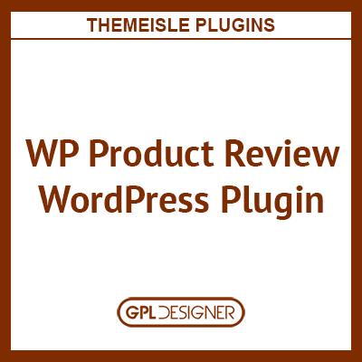 WP Product Review WordPress Plugin