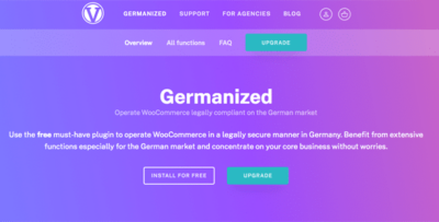 Germanized Pro Wordpress Plugin
