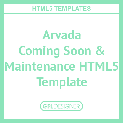 Arvada – Creative Coming Soon & Maintenance Mode Template