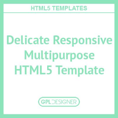 Delicate Responsive Multipurpose HTML5 Template