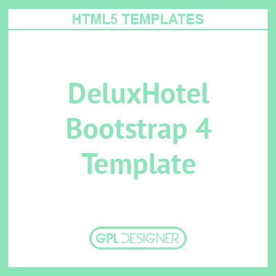 DeluxHotel – Responsive Bootstrap 4 Template For Hotels