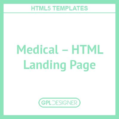 Medical – HTML Landing Page
