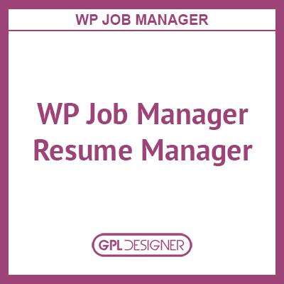 WP Job Manager Resume Manager