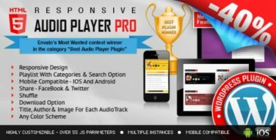 HTML5 Audio Player PRO