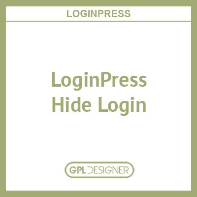 LoginPress – Hide Login
