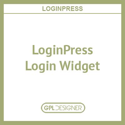 LoginPress – Login Widget