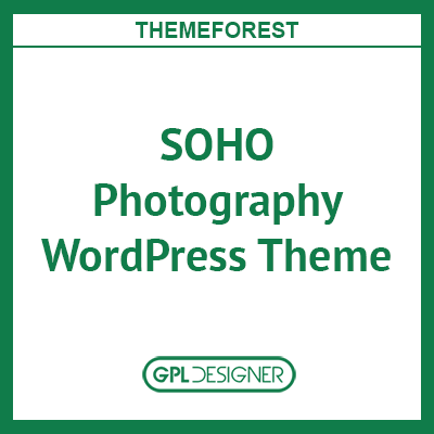 SOHO Photography WordPress Theme