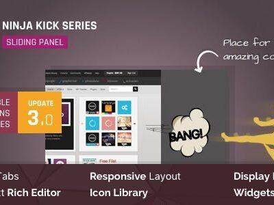 WordPress Off Canvas Sliding Panel Ninja Kick