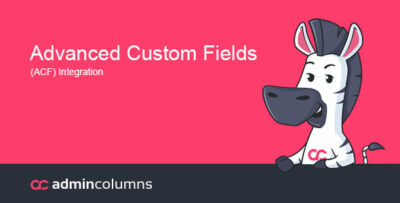 Admin Columns Pro Advanced Custom Fields Addon Plugin