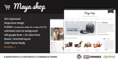 MayaShop A Flexible Responsive E Commerce Theme