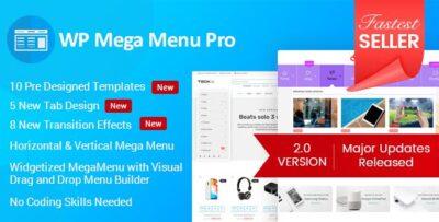 WP Mega Menu Pro Responsive Mega Menu Plugin For WordPress
