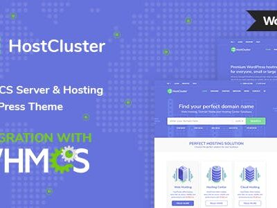 HostCluster WHMCS Server & Hosting Theme
