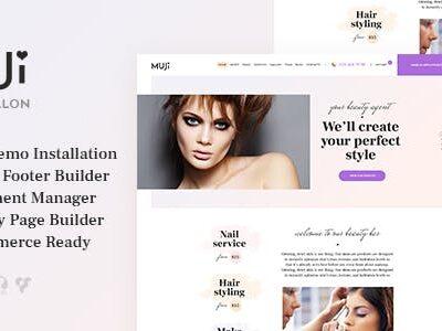Muji Beauty Shop & Spa Salon Theme