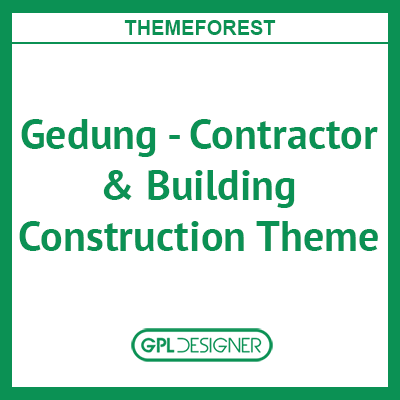 Gedung - Contractor & Building Construction Theme