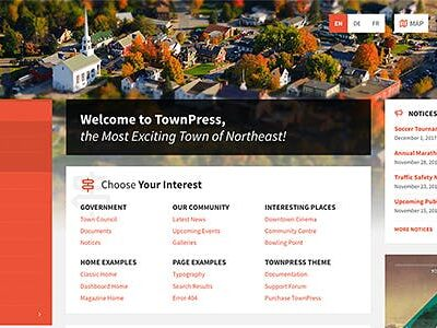 TownPress Municipality WordPress Theme