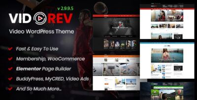 VidoRev Video WordPress Theme