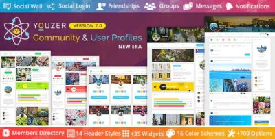 Youzer Buddypress Community & Wordpress User Profile Plugin