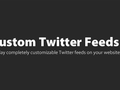Custom Twitter Feeds Pro Plugin