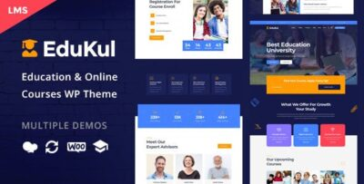 Edukul Online Courses WordPress Theme