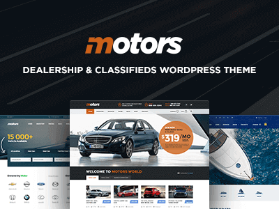 Motors Car Dealer, Rental & Classifieds WordPress Theme