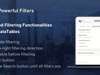 Powerful Filters For WpDataTables
