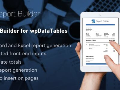 Report Builder Add On For WpDataTables