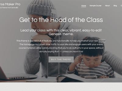 Studiopress Course Maker Pro Theme