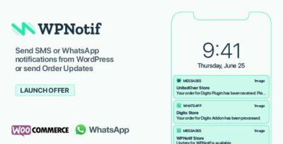 WPNotif WordPress SMS & WhatsApp Notifications