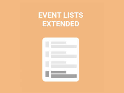 Eventon Events List Add On