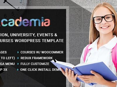 Academia Center WordPress Theme