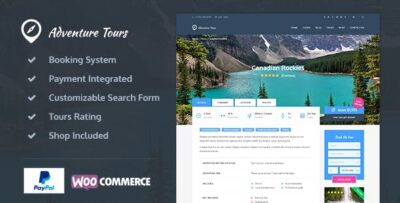 Adventure Tours WordPress Tour:Travel Theme