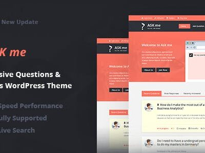 Ask Me Responsive Questions & Answers WordPress