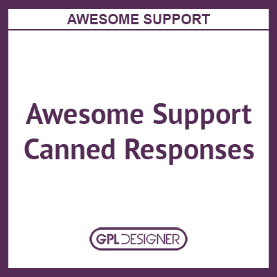 Awesome Support Canned Responses