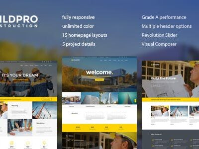 BuildPro Business, Building & Construction WordPress Theme