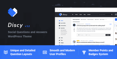 Discy Social Questions And Answers WordPress Theme