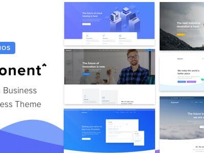 Exponent Modern Multi Purpose Business WordPress Theme