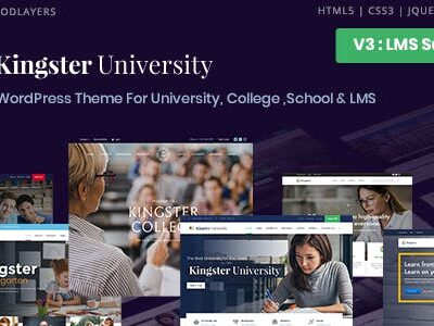 Kingster University, College & School Theme