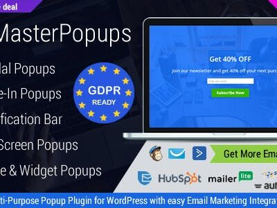 MasterPopups Wordpress Plugin