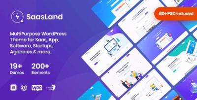 Saasland MultiPurpose WordPress Theme For Startup Business