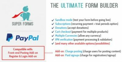 Super Forms Paypal Add On
