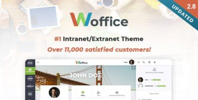 Woffice Intranet:Extranet WordPress Theme