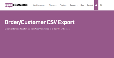 Woocommerce Ordercustomer Csv Export