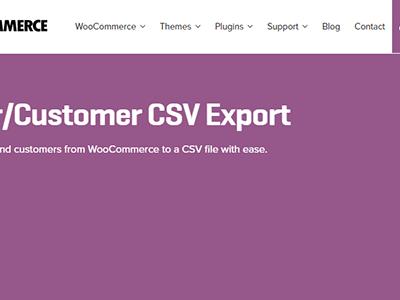 Woocommerce Ordercustomer Csv Export