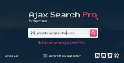 Ajax Search Pro Wordpress Plugin